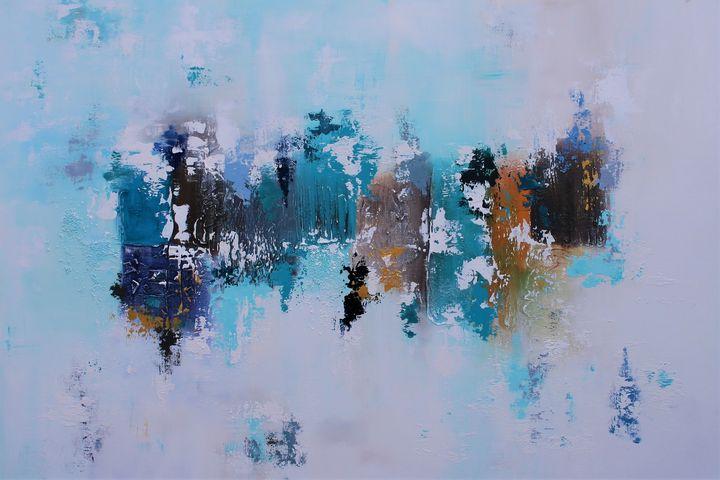 XXL Abstract Blue Essence II 120 X80 - Susan Wooler