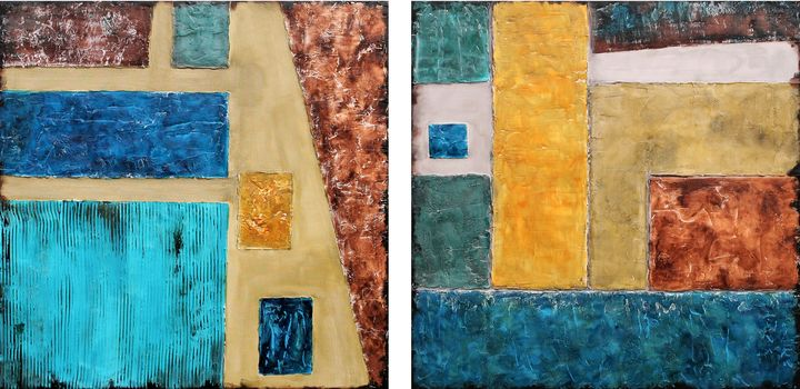 XXXL Abstract Earths Alleyway - Susan Wooler