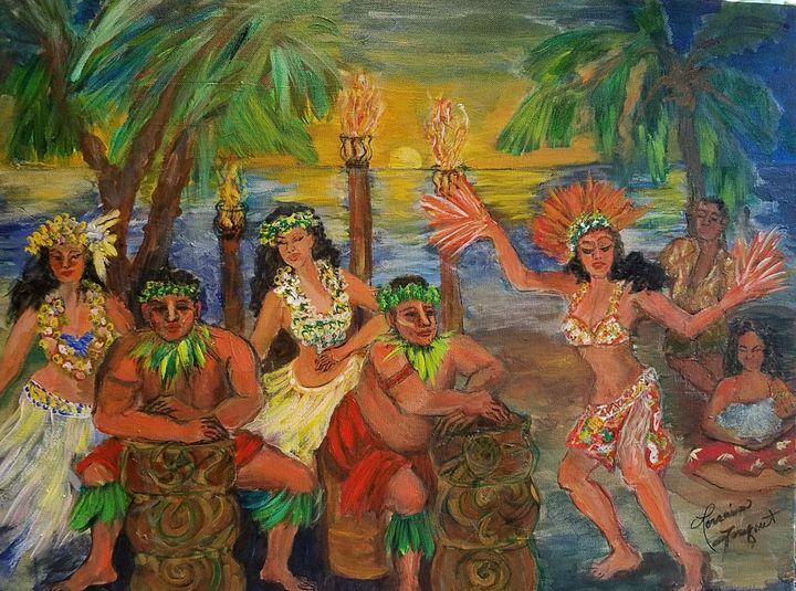 tahitian drummers - Le Swan Gallery