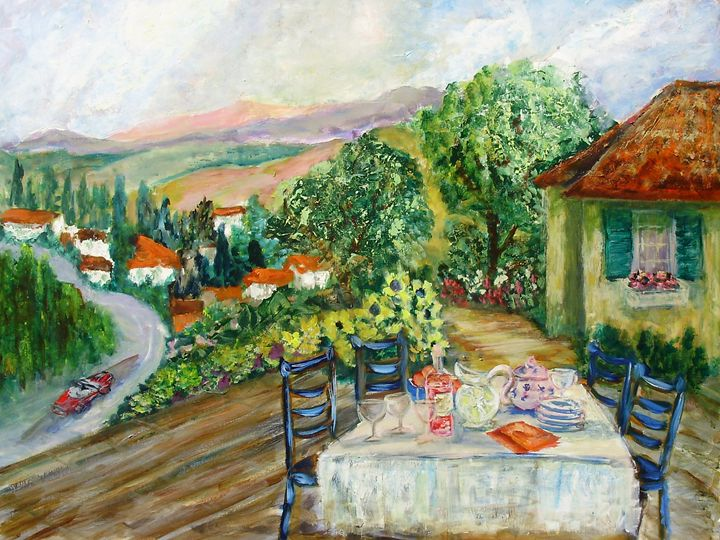 Lunch in Tuscany - Le Swan Gallery