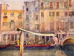 Scene in Venice - Emil's Gallery
