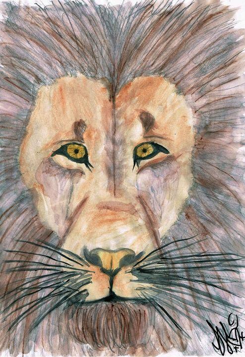 Watercolour Lion - Samantha McGill