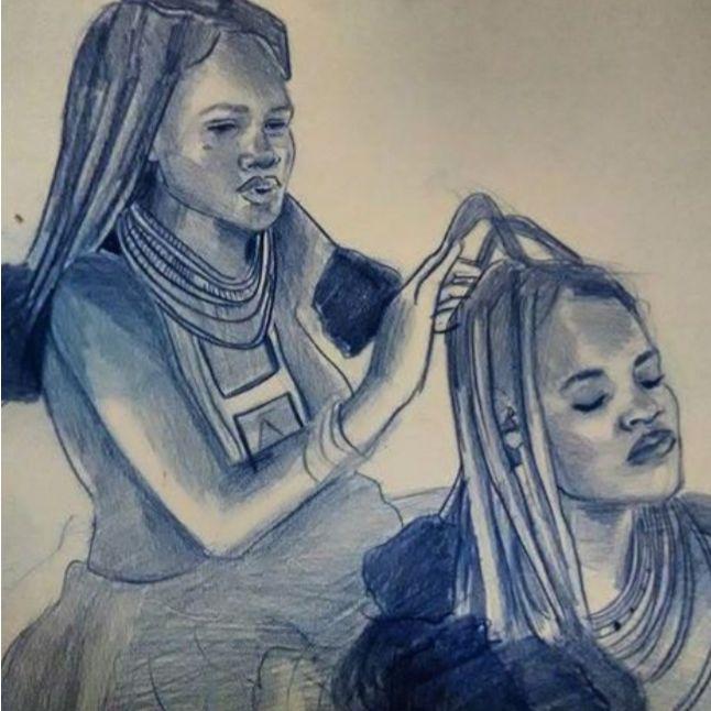 Doing hair - Debbie pinker