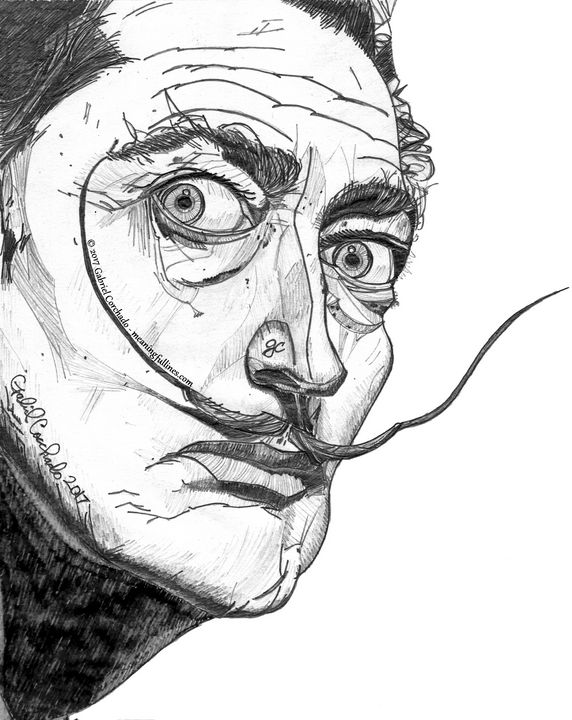 Salvador Dali - Meaningful Lines Art