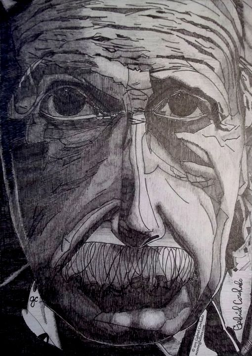 Albert Einstein - Meaningful Lines Art