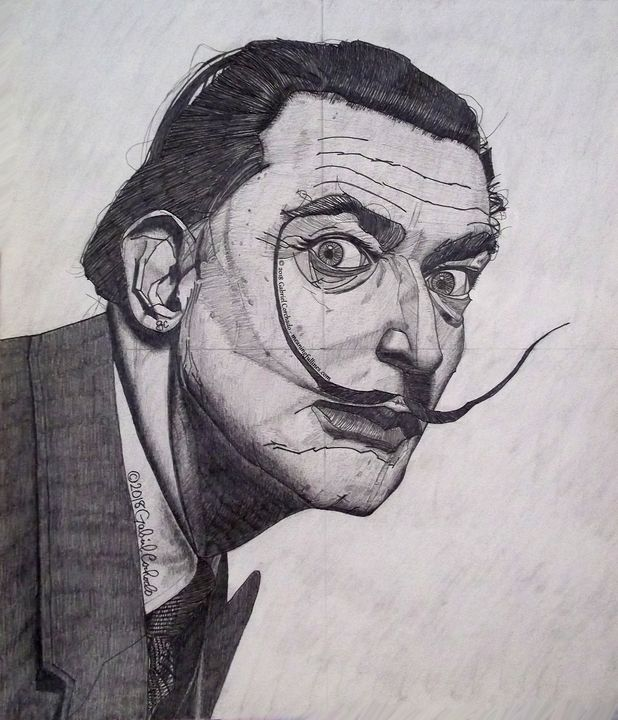 Hey! It's ME!! Salvador DALI!!! - Meaningful Lines Art