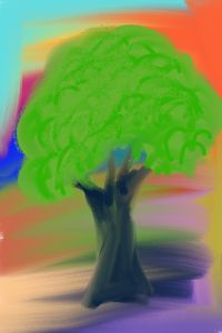 Green tree abstract
