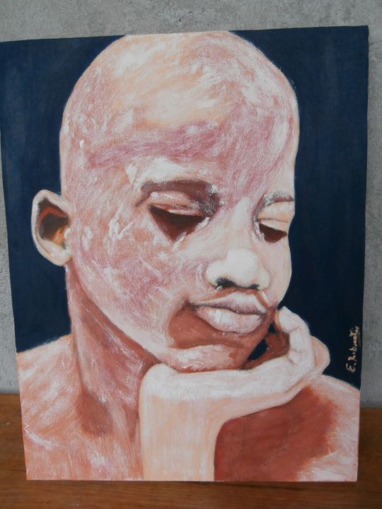 Pensatore africano - ElenaRobustiPainting