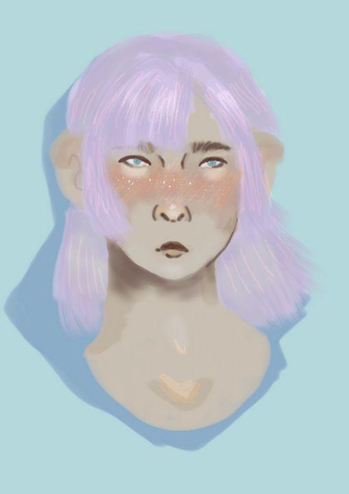 Purplehair - theyn_draw