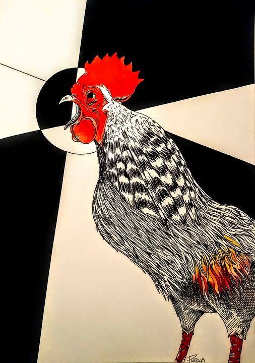 Grey Jungle Fowl - PietroParisArt