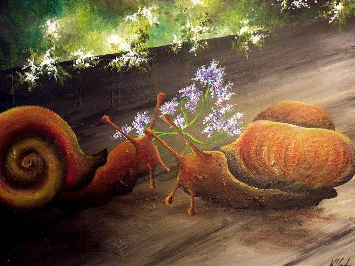 Snails Courting - Kristen Ann's Paintings