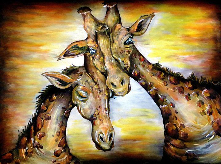 Long Neck Love - Kristen Ann's Paintings