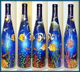 Painting on an Empty Wine Bottle