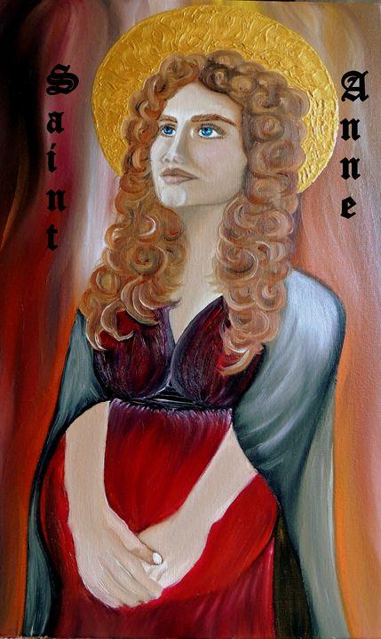Oil Painting, St Anne - Innes Vranes Oil Paintings