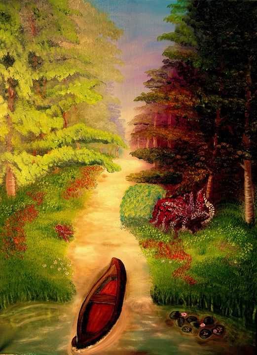 Oil Painting, Forest - Innes Vranes Oil Paintings