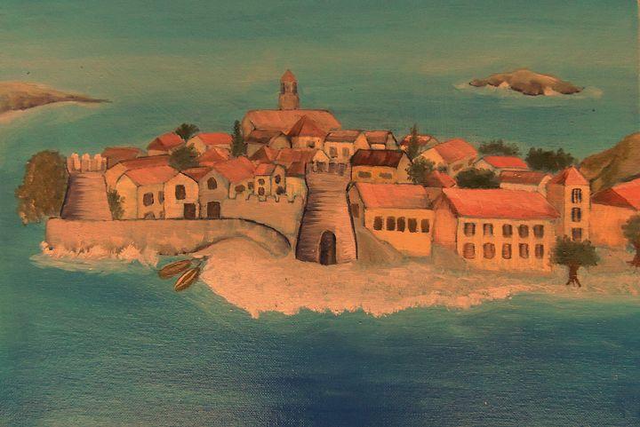 Mediterranean, Oil Painting - Innes Vranes Oil Paintings