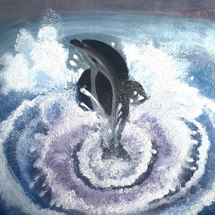Dolphin - Innes Vranes Oil Paintings