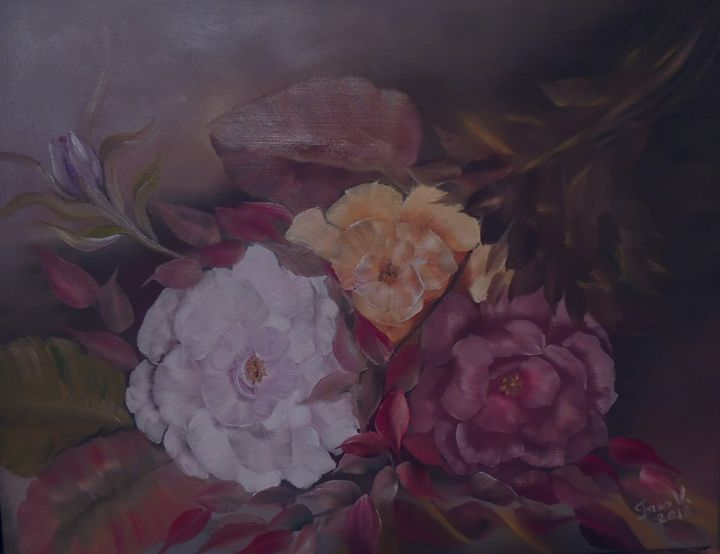 Just Roses - Innes Vranes Oil Paintings
