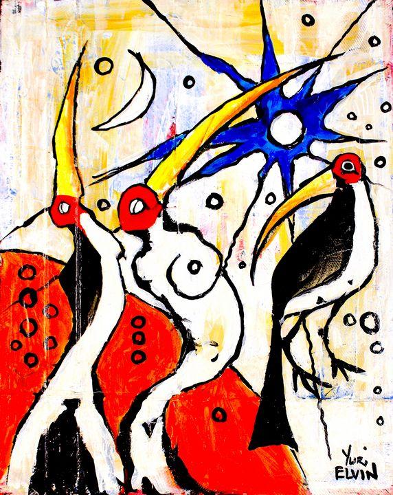 naked cranes 1 - yuri elvin