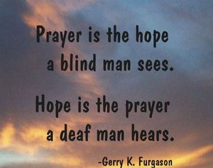 PRAYER IS THE HOPE