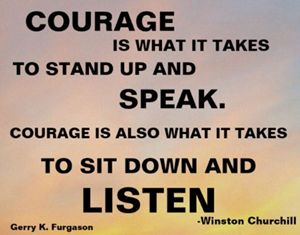 COURAGE IS WHAT IT TAKES