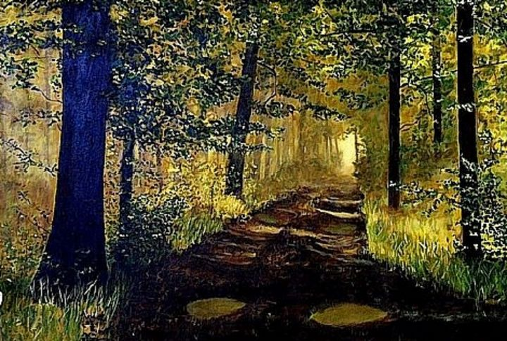 """OLD MILL ROAD"" - Gerry K. Furgason"