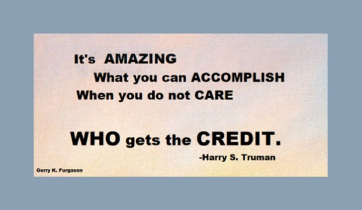 IT'S AMAZING WHAT YOU CAN ACCOMPLISH - Gerry K. Furgason