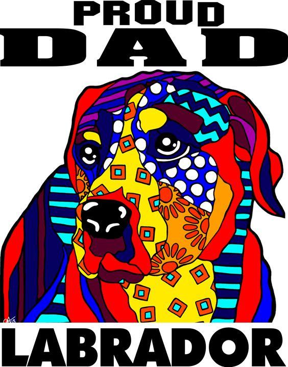 Labrador Proud Dad Dog Father Gift - Jackie Carpenter Art