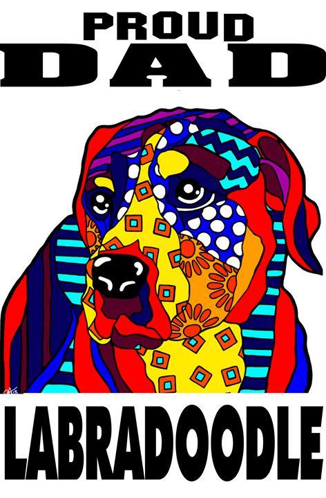 Labradoodle Dog Proud Dad Father - Jackie Carpenter Art