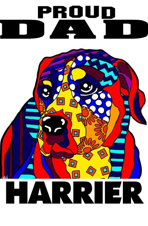 Harrier Proud Dad Dog Lover Father - Jackie Carpenter Art