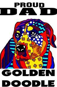 Golden Doodle Proud Dad Dog Gift