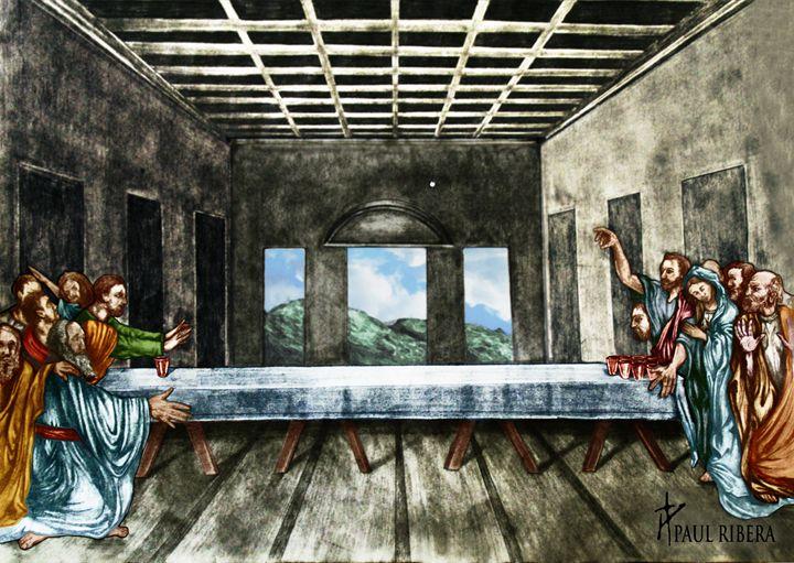 Jesus wins Beer Pong - Paul Ribera Art
