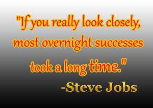 Steve Jobs - Motivational Quote art