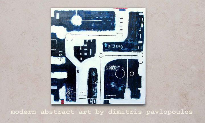 full moon - modern abstract art by dimitris pavlopoulos
