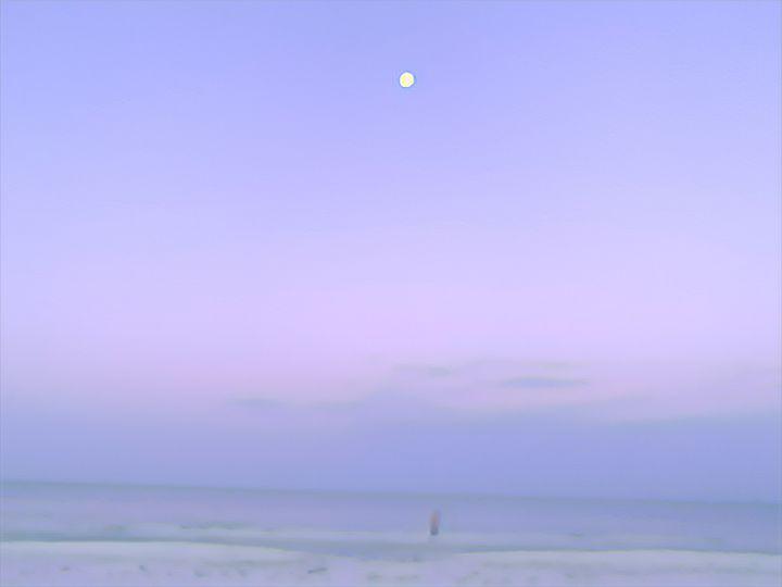 Ostrich Purple Moon Misses You - Sunshine's Art Gallery