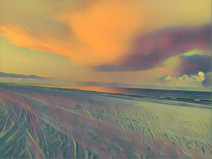 Colorful Early Beach Morning - Sunshine's Art Gallery
