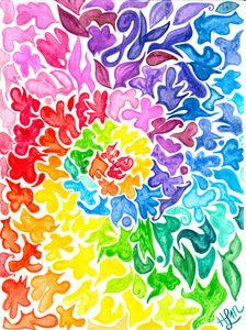 Rainbow Doodle Swirl