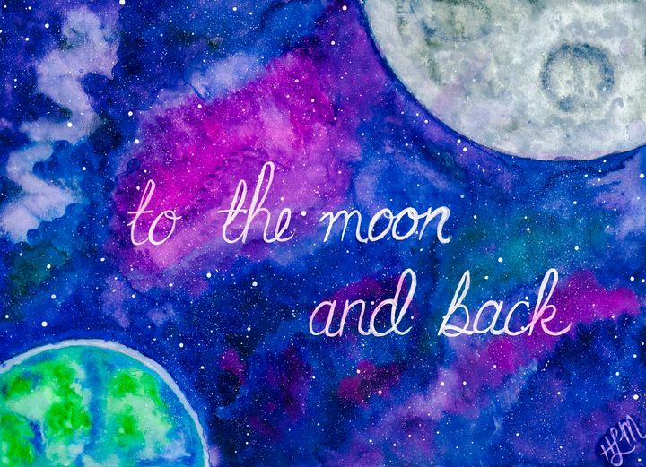 To the moon - HLM- Artist & Crafter