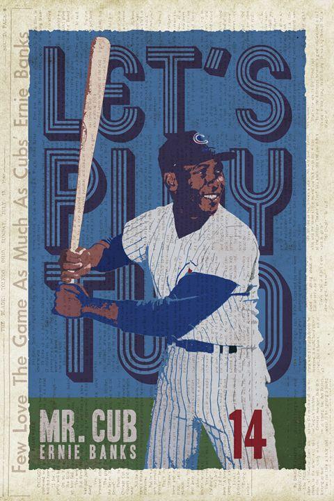 Mr. Cub - Vintage Baseball Poster