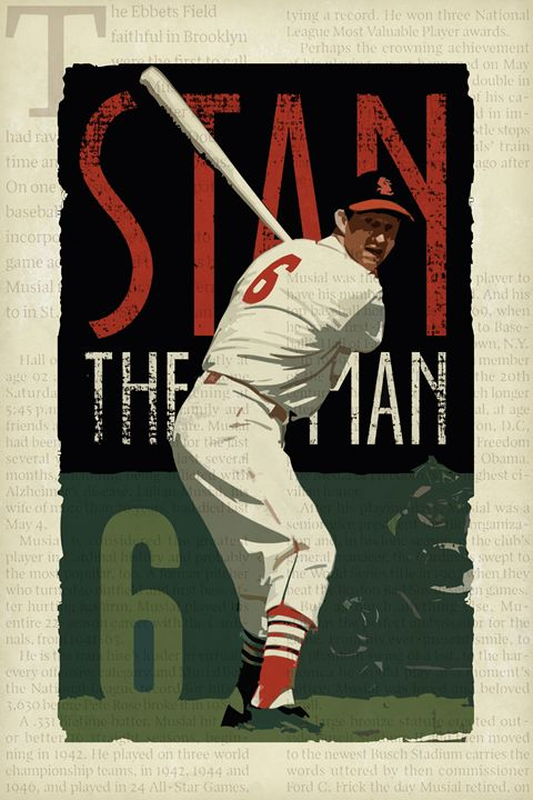 Stan The Man - Vintage Baseball Poster