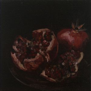Two Pomegranates on a Brazen Plate