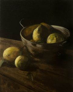 Five Lemons and a Silver Colander