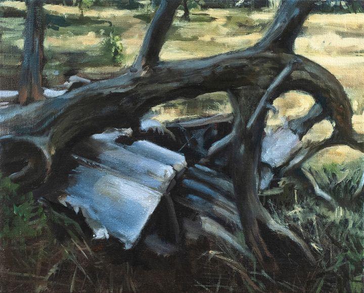 Metal Debris and Broken Branch - Julia Stania