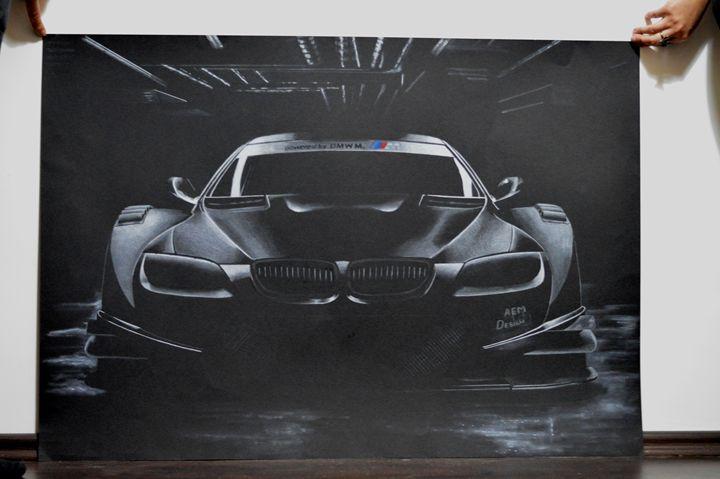 Car Drawing Painting BMW M DTM - AEM Design