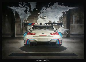 Realistic Car Drawing BMW M6 DTM