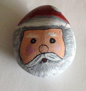 Santa On a pebble
