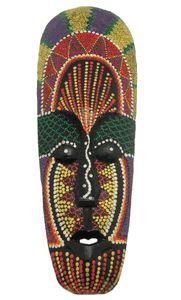 Hand Painted Aborigine Mask - TimsArtShop