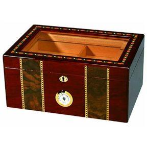 Cigar Glass Top Humidor - TimsArtShop