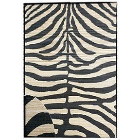 Zebra Design Area Rug