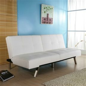 White Leatherette Futon